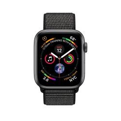 Apple Watch Series 4 44mm Space Grey Aluminium Case with Black Sport Loop (MU6E2)