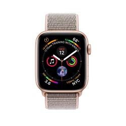 Apple Watch Series 4 44mm Gold Aluminium Case with Pink Sand Sport Loop (MU6G2)