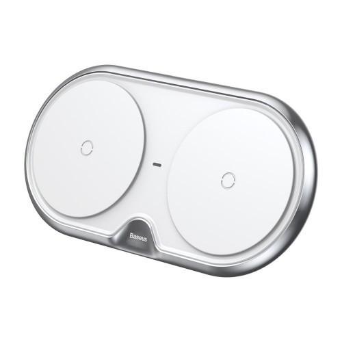 Беспроводная зарядка Baseus Dual Series (Plastic style) (White)