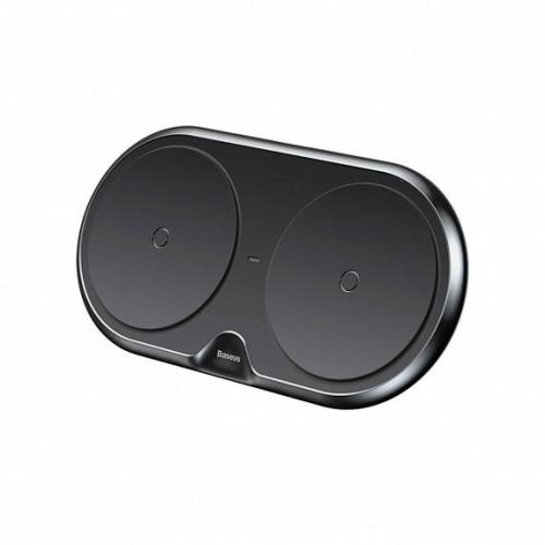 Беспроводная зарядка Baseus Dual Series (Plastic style) (Black)
