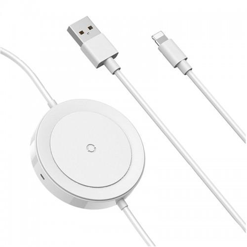 Беспроводная зарядка Baseus iP Cable Series (White)