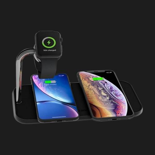 Беспроводная зарядка Zens Dual Aluminium Wireless Charger + Apple Watch 10W Black (ZEDC05B/00)
