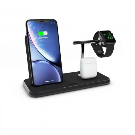 Беспроводное зарядное устройство Zens Stand + Dock + Watch Aluminium Wireless Charger 10W Black (ZEDC07B/00)