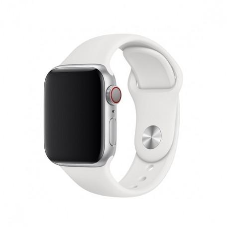 Оригинальный спортивный ремешок для Apple Watch 40mm White Sport Band - S/M - M/L (MJ4E2 / MTP52)