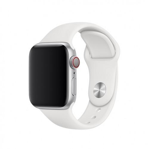 Оригинальный спортивный ремешок для Apple Watch 44mm White Sport Band - S/M - M/L (MJ4M2 / MTPK2)