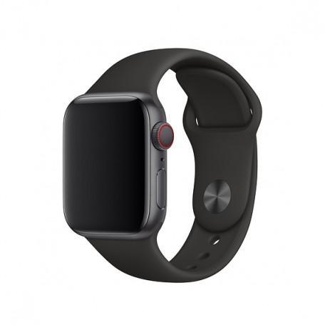 Оригинальный спортивный ремешок для Apple Watch 44mm Black Sport Band - S/M - M/L (MU9L2)