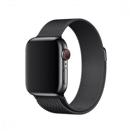 Оригинальный стальной ремешок для Apple Watch 44mm Space Black Milanese Loop