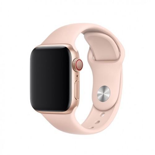 Оригинальный спортивный ремешок для Apple Watch 44mm Pink Sand Sport Band - S/M & M/L (MNJ92 / MTPM2)