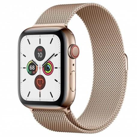 Apple Watch Series 5 44mm GPS+LTE Gold Stainless Steel Case with Gold Milanese Loop (MWW62, MWWJ2)