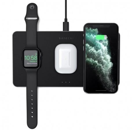 Беспроводная зарядка Satechi Trio Wireless Charging Pad для iPhone, AirPods Pro, Apple Watch
