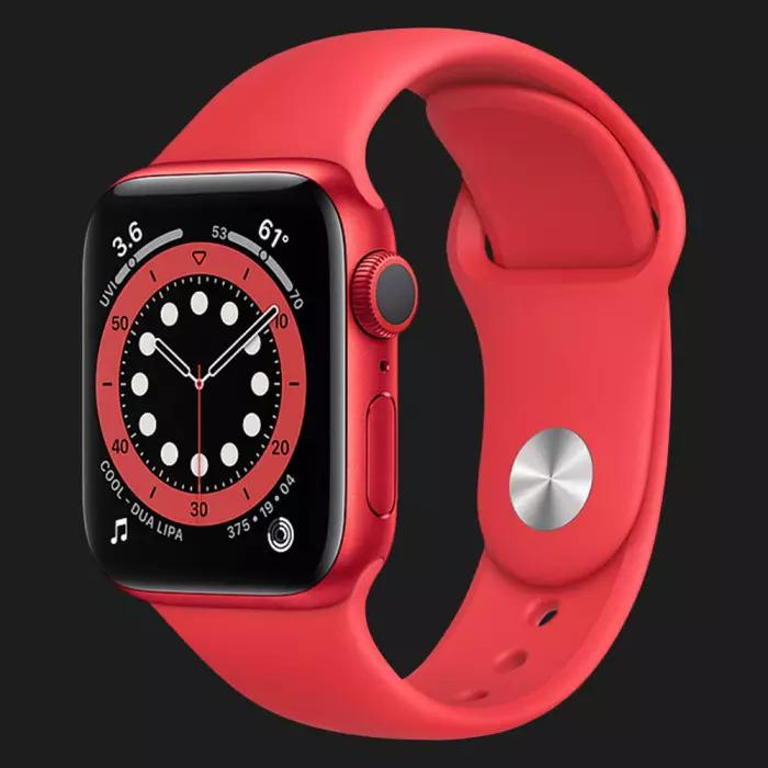 Apple Watch Series 6 40mm Red Aluminum Case with Red Sport Band (M00A3)