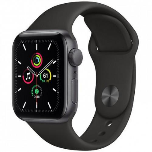 Apple WATCH SE 40mm Space Gray Aluminium Case with Black Sport Band (MYDP2)