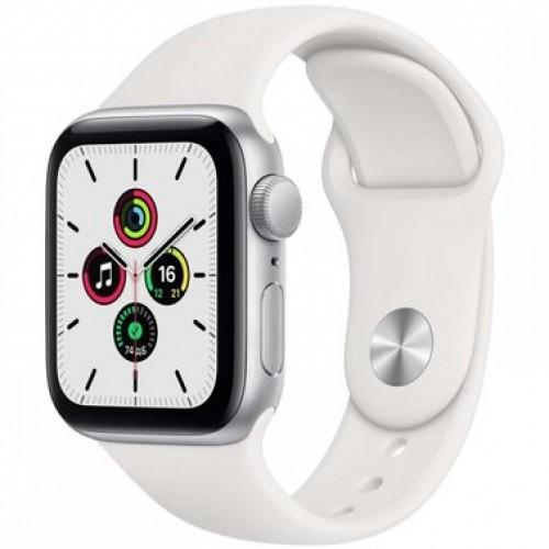 Apple WATCH SE 40mm Silver Aluminium Case with White Sport Band (MYDM2)