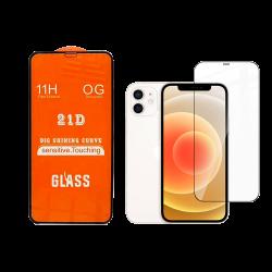 Tempered Glass для iPhone 12 Mini Full Cover 21D[Black]