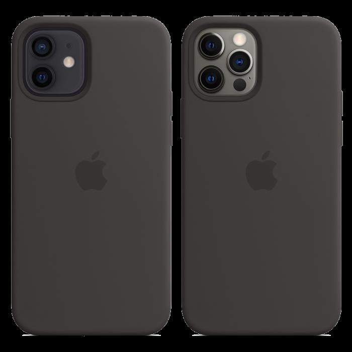 Чехол Smart Silicone Case для iPhone 12/12 Pro 1:1 Original[Black]